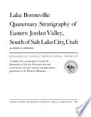 Lake Bonneville  Quaternary Stratigraphy of Eastern Jordan Valley