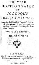 Nouveau Dictionnaire ou Colloque français et breton