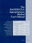 The Rand/UCLA Appropriateness Method User's Manual