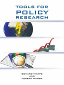 TOOLS FOR POLICY RESEARCH