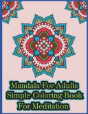 Mandala Adult Coloring Book For Relaxation