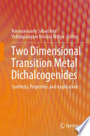 Two Dimensional Transition Metal Dichalcogenides Book PDF