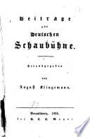 Beiträge zur deutschen Schaubühne