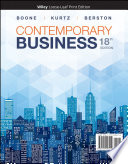 """Contemporary Business"" by Louis E. Boone, David L. Kurtz, Susan Berston"