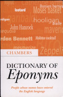 Chambers Dictionary of Eponyms
