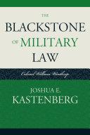 The Blackstone of Military Law Pdf/ePub eBook