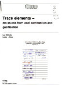 Trace Elements Emissions From Coal Combustion And Gasification Book PDF