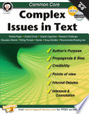 Common Core: Complex Issues in Text