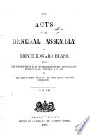 The Acts of the General Assembly of Prince Edward Island  1863 1868 Book PDF