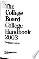 The College Board College Handbook