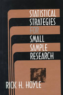 Statistical Strategies for Small Sample Research Book