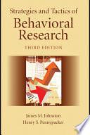 Strategies and Tactics of Behavioral Research Book PDF