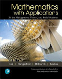 link to Mathematics with Applications In the Management, Natural, and Social Sciences in the TCC library catalog