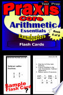 PRAXIS Core Test Prep Arithmetic Review  Exambusters Flash Cards  Workbook 6 of 8
