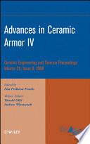 Advances in Ceramic Armor IV