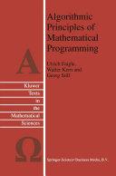 Algorithmic Principles of Mathematical Programming