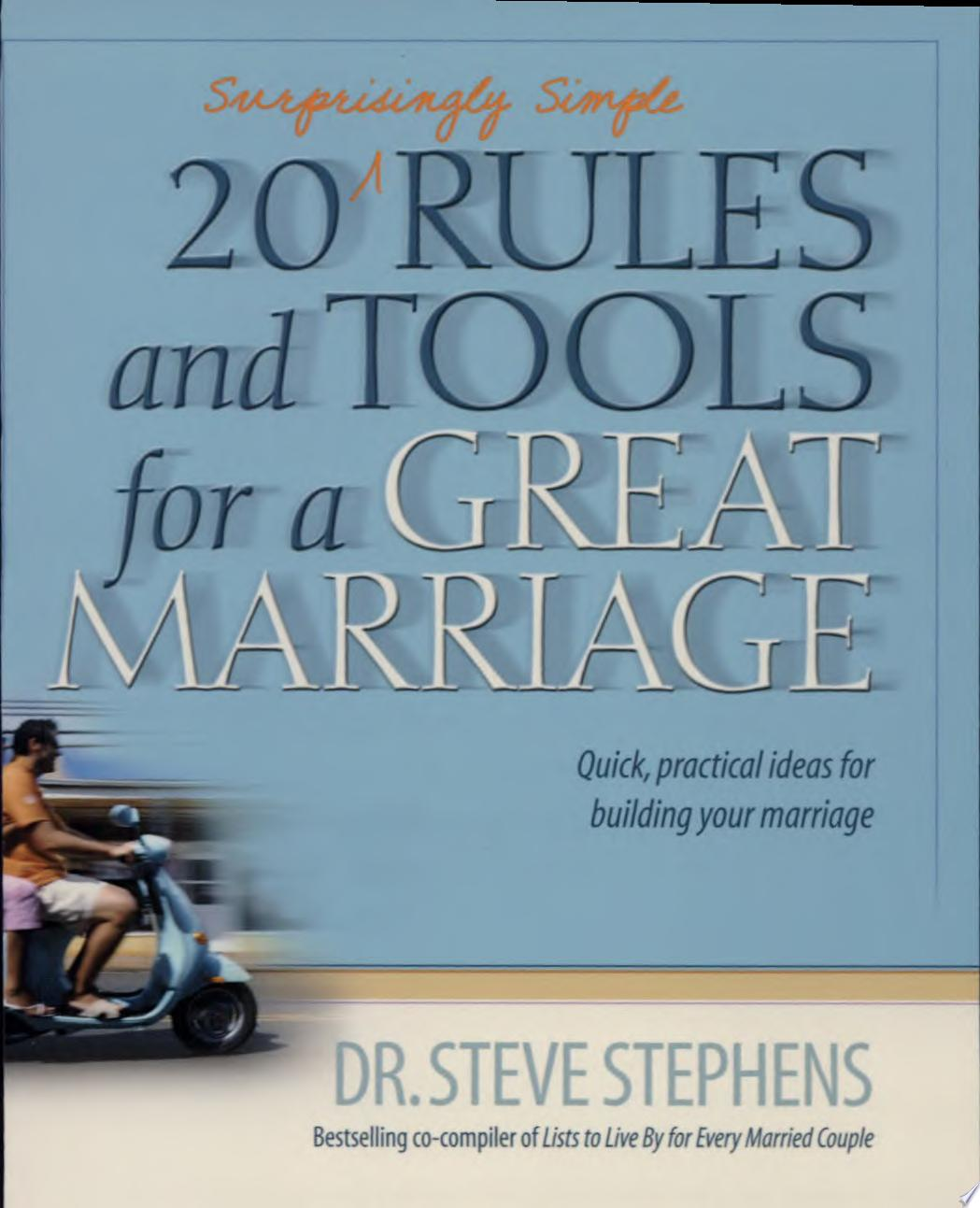 20  Surprisingly Simple  Rules and Tools for a Great Marriage