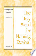 The Holy Word For Morning Revival Crystallization Study Of Genesis Volume 3