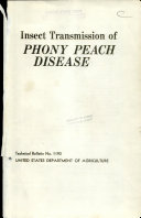Insect Transmission of Phony Peach Disease