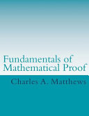 Fundamentals of Mathematical Proof