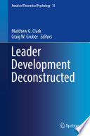 Leader Development Deconstructed
