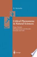 Critical Phenomena in Natural Sciences