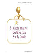 Business Analysis Certification Study Guide