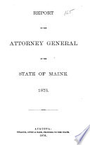 Report of the Attorney General of the State of Maine