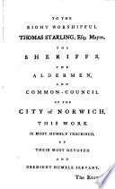 The History of the City and County of Norwich
