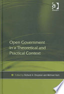 Open Government In A Theoretical And Practical Context Book PDF
