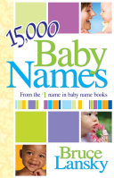 Pdf 15,000+ Baby Names Telecharger
