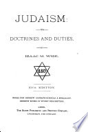 Judaism: its doctrines and duties