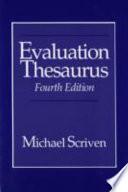 Evaluation Thesaurus Book PDF