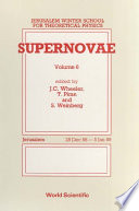 Supernovae Proceedings Of The 6th Jerusalem Winter School For Theoretical Physics