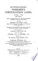 Butterworths  Workmen s compensation cases Book