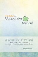 Pdf Teaching the Unteachable Student