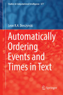 Pdf Automatically Ordering Events and Times in Text Telecharger