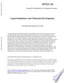 Legal Institutions and Financial Development