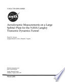 Aerodynamic Measurements on a Large Splitter Plate for the NASA Langley Transonic Dynamics Tunnel