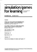 Simulation games for Learning Book