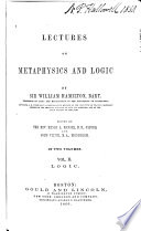 Lectures on Metaphysics and Logic Book