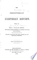 The Presbyterian Quarterly Review Book