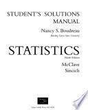Statistics : student solutions manual