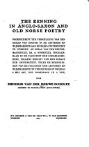 Pdf The Kenning in Anglo-Saxon and Old Norse Poetry ...
