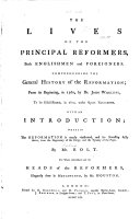 Pdf The Lives of the Principal Reformers, Both Englishmen and Foreigners