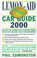 Lemon aid Car Guide 2000 Book