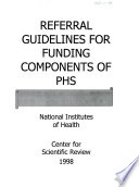 Referral Guidelines for Funding Components of PHS