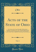 Acts of the State of Ohio  Vol  1