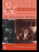 Pdf Crime and Punishment in Ancient Rome