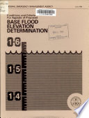 Conditions and Criteria for Appeals of Proposed Base Flood Elevation Determination